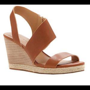 New Lucky Brand Lowden Slingback Wedge Sandal